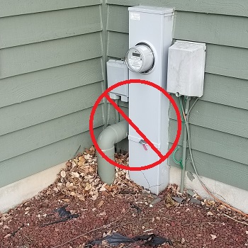 Radon system filling full of water to fail.